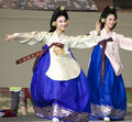 Korean ethnic dance performance Stock Photo