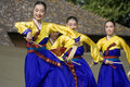 Korean ethnic dance performance Stock Image