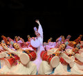 Korean ethnic dancers perform on stage Stock Image