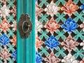 Korean Floral pattern door Vintage Handle
