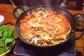 Korean hot pot. Royalty Free Stock Photo