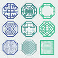 Korean old of window frame symbol sets traditional pattern is a pattern design Stock Photo