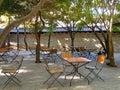 Korean outdoor cafe. Royalty Free Stock Photo