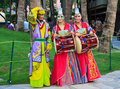 Korean people in traditional dress Royalty Free Stock Photos