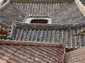 Korean rooftops old of traditional houses Stock Image