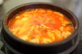 Korean spicy tofu soup Royalty Free Stock Photography