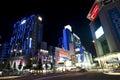 Korean street at night Royalty Free Stock Photo