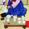 Korean tea ceremony Royalty Free Stock Images