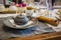 Korean tea ceremony table