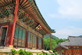 Korean temple architecture Royalty Free Stock Photo
