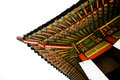 Korean temple architecture in colour Royalty Free Stock Photo