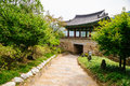 Korean traditional architecture in Cheongpung Cultural Heritage Complex, Korea Royalty Free Stock Photo