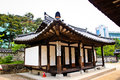 Korean traditional village house Royalty Free Stock Photo