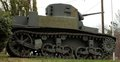 Korean war era military tank outside of a veterans of foreign wars facility in virginia united states Stock Photo