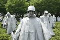 Korean war memorial in washington dc usa Stock Photos