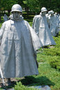 Korean war veterans memorial in Washington DC Stock Images