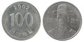 Korean wons coin Royalty Free Stock Photo