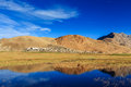 Korzok village on tso moriri ladakh india Royalty Free Stock Images