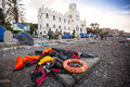 Kos island, Greece - European Refugee Crisis. Royalty Free Stock Photo