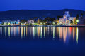 Kos island greece night view seascape Stock Image