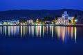 Kos island greece night view seascape Stock Image