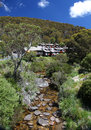 Kosciuszko national park in australia lodges at thredbo Stock Photography