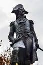 Kosciuszko statue lafayette park autumn washington dc andrzej kosciusko american revolutionary hero later polish lithuanian Royalty Free Stock Photography