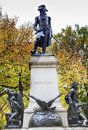 Kosciuszko statue lafayette park autumn washington dc andrzej kosciusko american revolutionary hero later polish lithuanian Stock Image