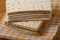 Kosher matzo jewish bread table Stock Image