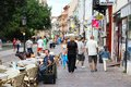 Kosice slovakia august people shop stroll august kosice slovakia kosice nd largest city slovakia people living metro area Royalty Free Stock Photo
