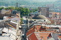 Kosice slovakia may city view of from saint elizabeth cathedral s watch tower Royalty Free Stock Photo