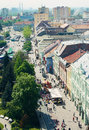 Kosice slovakia may city view of from saint elizabeth cathedral s watch tower Stock Photos