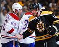 Kostitsyn and kaberle andrei bruins tomas shake hands after the bruins eliminated them from the play offs Stock Image