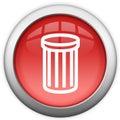 Kosz ikona przetwarza Zdjęcia Royalty Free