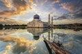 Kota Kinabalu City Mosque Royalty Free Stock Photo