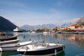 Kotor bay harbour view Stock Photos