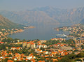 Kotor bay montenegro among high mountains in Royalty Free Stock Image