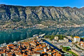 Kotor Bay and Old Town view, Montenegro Royalty Free Stock Photo