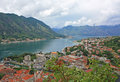 Kotor bay view of from lovcen mountain Royalty Free Stock Photography