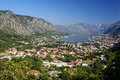 Kotor old town and boka kotorska bay montenegro europa Royalty Free Stock Photos