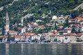 Kotor old town and boka kotorska bay montenegro europa Stock Photos
