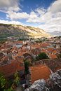 Kotor's roofs Stock Photography