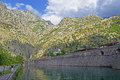 Kotor walls view of old montenegro Royalty Free Stock Photo