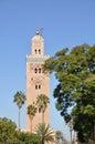 Koutoubia Marrakech meczet Obrazy Stock