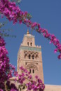 Koutoubia minaret in Marrakesh Royalty Free Stock Photo