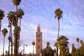 Koutoubia Mosque and minaret Royalty Free Stock Photo