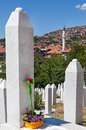 Kovaci cemetery muslim grave on martyr s memorial in sarajevo b h Stock Photo