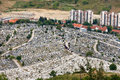 Kovaci cemetery sarajevo bosnia and herzegovina aug aerial view of martyr�s memorial on august in sarajevo b h one of many Stock Photography