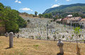Kovaci cemetery sarajevo bosnia and herzegovina aug people on martyr�s memorial on august in sarajevo b h one of many cemeteries Stock Image