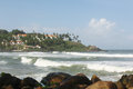 Kovalam beach one most popular tourist spots kerala india Stock Images